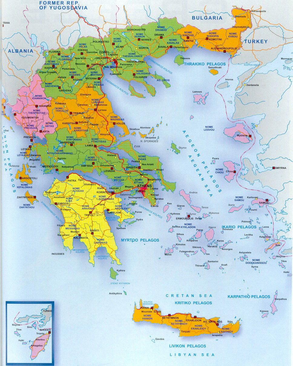 The history of greece map of greece gumiabroncs Images